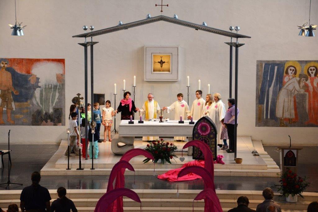 Olten: Am Sonntag, 16. Juni, fanden in den Kirchen St. Marien (Bild) und St. Martin Gottesdienste zur Gleichberechtigung der Frauen in der Kirche statt. | © Caroline Hayoz Graf