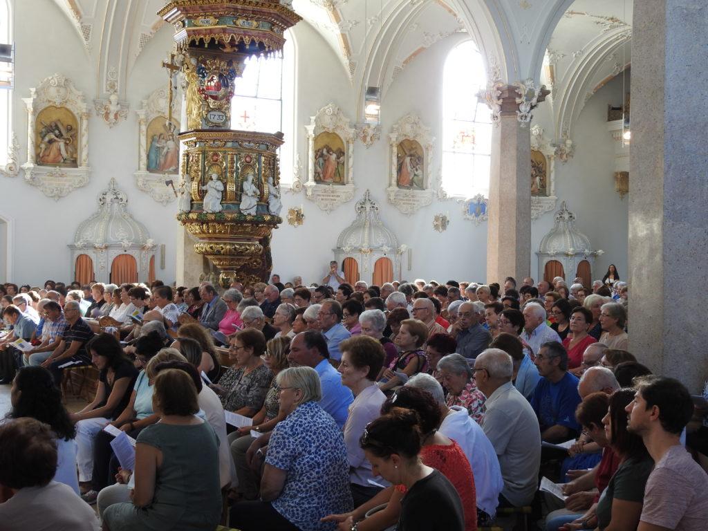 An der Jubiläumswallfahrt 2019 nahmen auch Italienerinnen und Italiener aus den andern Kantonen des Bistums Basel teil. | © Parrocchia San Pio X