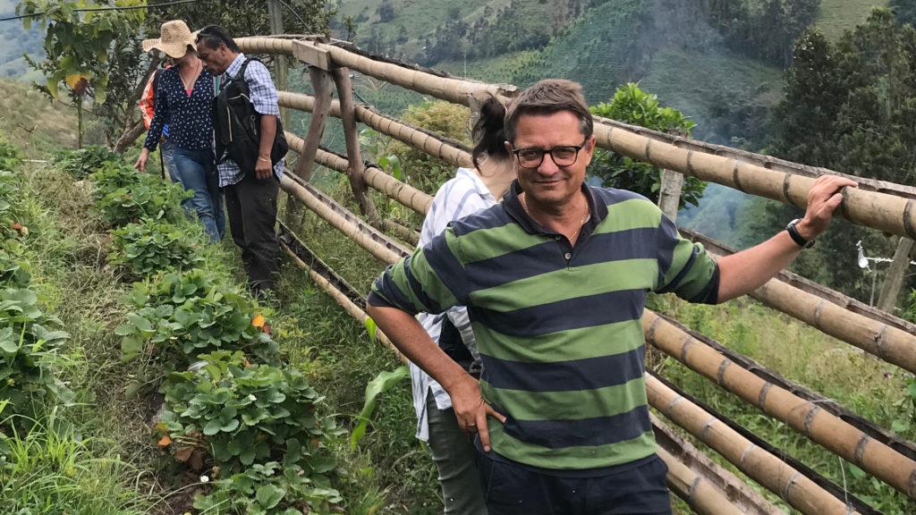Bischof Felix Gmür bei der Fastenopfer-Partnerorganisation Semillas de Agua in Kolumbien. | © Markus Brun/Fastenopfer
