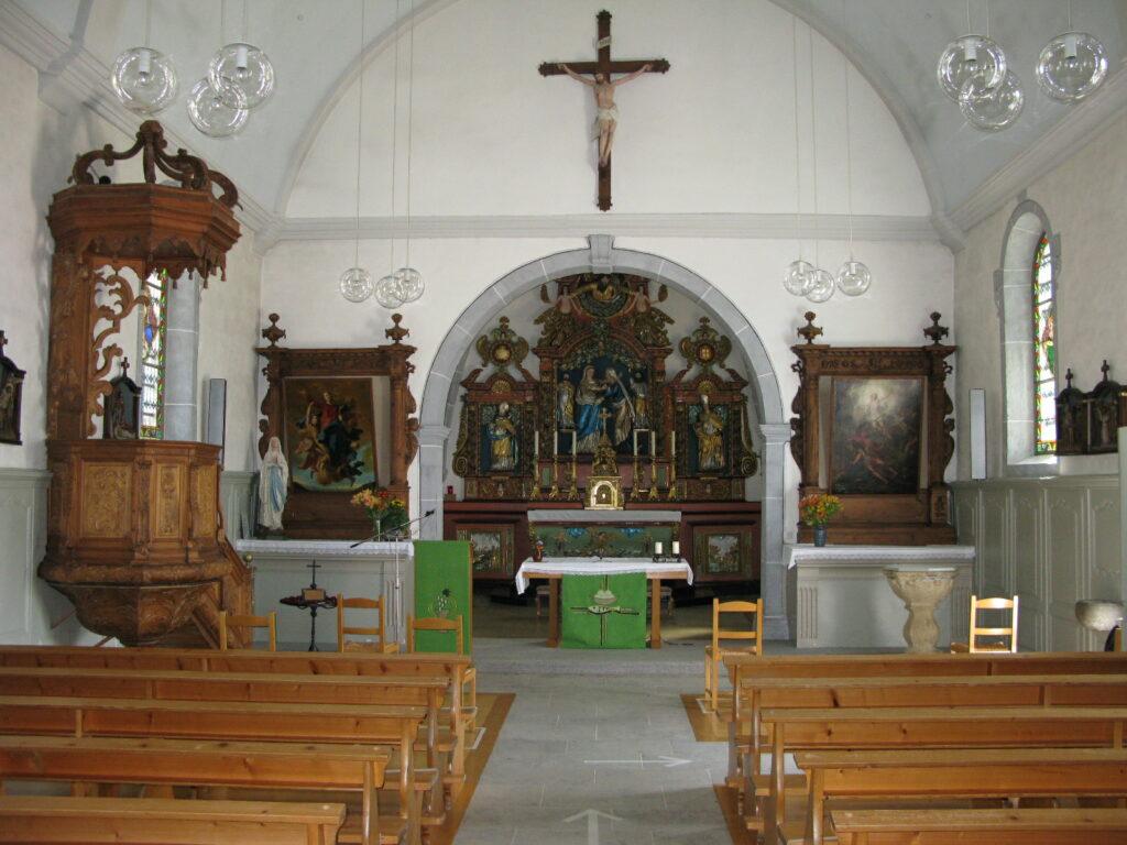 Innenraum der Pfarrkirche Notre-Dame de la Visitation.  | © Christian von Arx