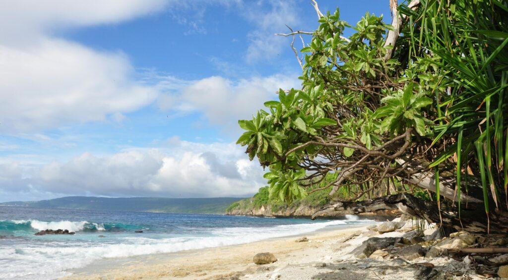 Strand auf der Weihnachtsinsel im Indischen Ozean. © Christmas Island Immigration Detention Centre / wikimedia