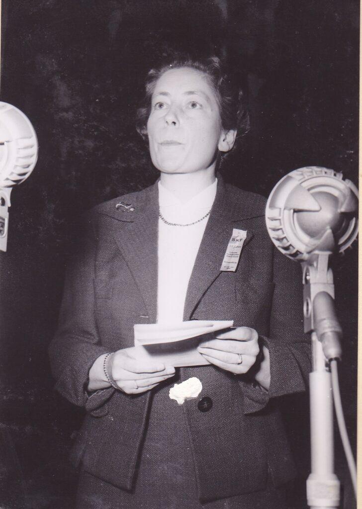 Elisabeth Blunschy-Steiner (Schwyz) spielte als Zentralpräsidentin von 1957 bis 1961 eine entscheidende Rolle für das mutige Ja der SKF-Delegierten zum Frauenstimmrecht 1958. | © SKF