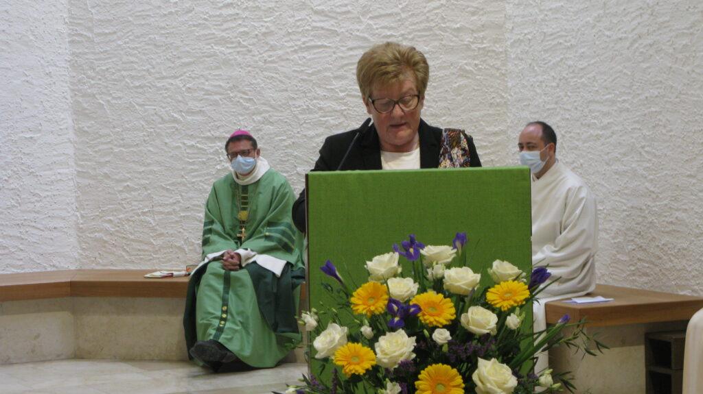 Rosmarie Pabst, Präsidentin des Zweckverbandes, sprach stellvertretend für die fünf Kirchgemeinden ein Dankeswort. | © Christian von Arx